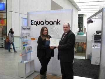 Účet s 10 tisíci Kč v soutěži s Equa bank a naším serverem předán vítězce