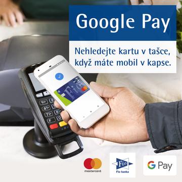Česká Fio banka začala svým klientům nabízet možnost placení mobilním telefonem, a to prostřednictvím aplikace Google Pay. Mohou s ní i vybírat z bankomatů nebo platit v e-shopech.