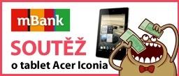 Únorová soutěž finanční gramotnosti - poslední 2 dny soutěže o tablet Acer Iconia